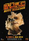 """German Star Wars Day Version """"Characters"""" Chewbacca Movie Marathon One-Sheet / A1 Size"""