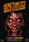 """German Star Wars Day Version """"Characters"""" Maul Movie Marathon One-Sheet / A1 Size"""