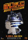 """German Star Wars Day Version """"Characters"""" R2-D2 Movie Marathon One-Sheet / A1 Size"""