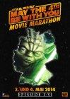 "German Star Wars Day Version ""Characters"" Yoda Movie Marathon One-Sheet / A1 Size"