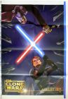 "Romanian The Clone Wars Version ""Animated Action"" Anakin vs. Dooku One-Sheet"