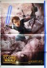 "Romanian The Clone Wars Version ""Animated Action"" Anakin / Fortress Wall One-Sheet"