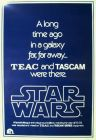 "USA Star Wars Style ""B"" Advance Teac & Tascam One-Sheet"