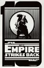 "United States Empire Strikes Back Style ""B"" 10th Anniversary Silver One-Sheet"