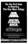 "USA Star Wars ""Avco Cinema Center Cinema"" Triple Bill One-Sheet"