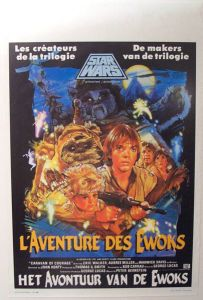 "Belgian Ewok Adventure Style ""B"" Caravan of Courage Flemish / French One-Sheet"