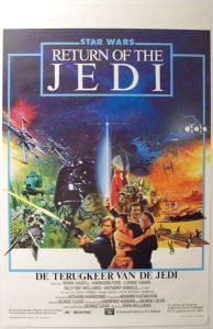 "Belgian Return of the Jedi Style ""A"" Foreign Flemish One-Sheet"