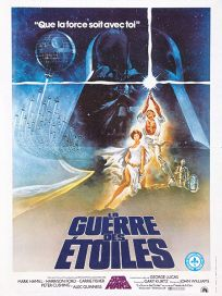 "Canadian Star Wars Style ""A"" French Moyenne-Affiche"