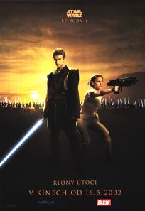 "Czech Republic Attack of the Clones Version ""Good Guys"" Anakin / Amidala One-Sheet"