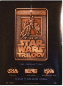 """Danish Star Wars Special Edition Version """"A"""" Advance One-Sheet"""