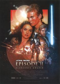 "Danish Attack of the Clones Version ""B"" Handbill / A4 Size"
