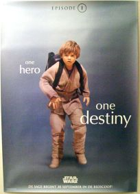 "Dutch The Phantom Menace Version ""One Series"" Anakin One-Sheet / A0 Size"