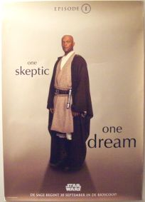 "Dutch The Phantom Menace Version ""One Series"" Windu One-Sheet / A0 Size"