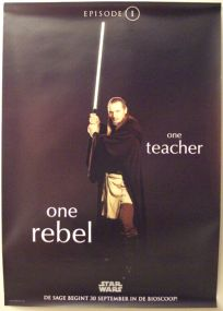 "Dutch The Phantom Menace Version ""One Series"" Jinn One-Sheet / A0 Size"