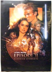 "Finnish Attack of the Clones Version ""B"" One-Sheet"