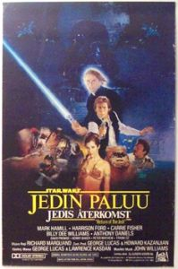"Finnish Return of the Jedi Style ""B"" One-Sheet / A2 Size"