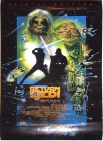 """Finnish Return of the Jedi Special Edition Version """"D"""" One-Sheet / A2 Size"""