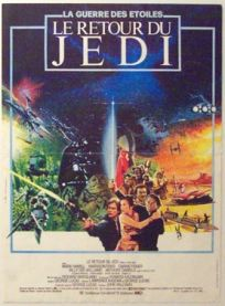 """French Return of the Jedi Style """"A"""" Foreign Mini-Affiche"""