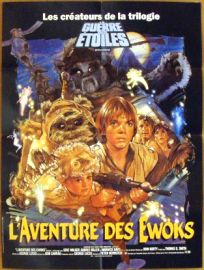 """French Ewok Adventure Style """"B"""" Caravan of Courage Petite-Affiche"""