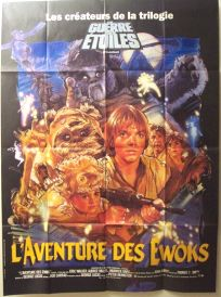 "French Ewok Adventure Style ""B"" Caravan of Courage Grande-Affiche"