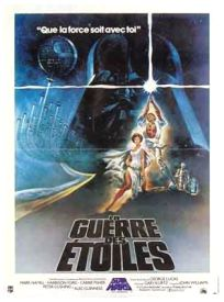 "French Star Wars Style ""A"" CBS / FOX Video Mini-Affiche"