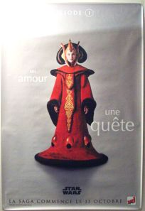 "French The Phantom Menace Version ""One Series"" Amidala Grande-Affiche"