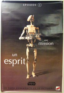 "French The Phantom Menace Version ""One Series"" Battle Droid Grande-Affiche"