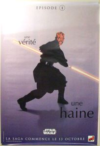 "French The Phantom Menace Version ""One Series"" Maul Grande-Affiche"