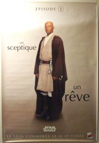 "French The Phantom Menace Version ""One Series"" Windu Grande-Affiche"
