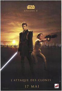 "French Attack of the Clones Version ""Good Guys"" Anakin / Padmé Grande-Affiche"