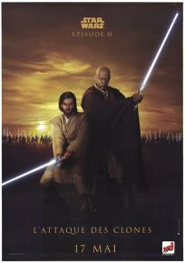 "French Attack of the Clones Version ""Good Guys"" Kenobi / Windu Grande-Affiche"