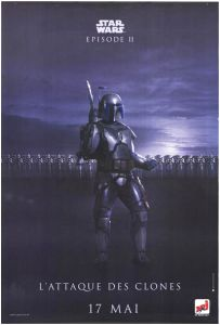 """French Attack of the Clones Version """"Bad Guys"""" Fett Grande-Affiche"""