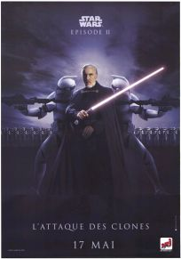 "French Attack of the Clones Version ""Bad Guys"" Dooku Grande-Affiche"