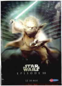 "French Revenge of the Sith Version ""Characters"" Yoda Grande-Affiche"
