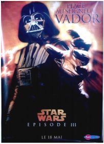 """French Revenge of the Sith Version """"Characters"""" Vader Grande-Affiche"""