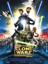 "French The Clone Wars Version ""A"" Mini-Affiche"