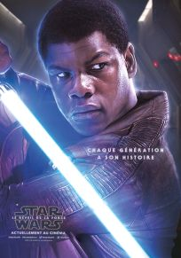 "French The Force Awakens Version ""Characters"" Finn Grande-Affiche"