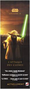 "French Attack of the Clones Version ""Good Guys"" Yoda 2x Door Poster"