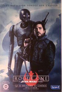 "French Rogue One Version ""Characters"" K-2SO / Cassian Grande-Affiche"