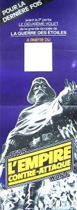 "French Empire Strikes Back Style ""B"" '82 Re-release Blank Door Poster"