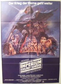 """German Empire Strikes Back Style """"B"""" One-Sheet / A1 Size"""