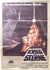 """German Star Wars Style """"A"""" One-Sheet / A0 Size"""