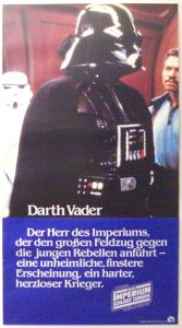 "German Empire Strikes Back Style ""Deko"" Darth Vader Door Poster"