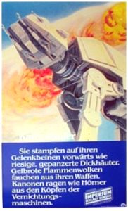 "German Empire Strikes Back Style ""Deko"" AT-AT Door Poster"