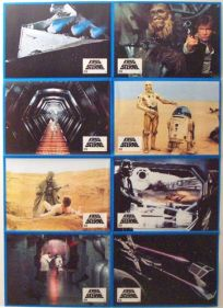 "German Star Wars Style ""Lobby Cards"" Uncut #1 One-Sheet / A1 Size"