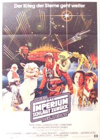 """German Empire Strikes Back Style """"A"""" Foreign '82 Re-release White Logo One-Sheet / A1 size"""