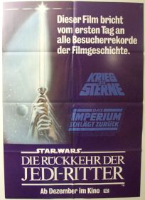 German Return of the Jedi Advance One-Sheet / A1 Size