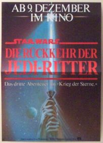 "German Return of the Jedi Style ""A"" Insert / A3 Size"