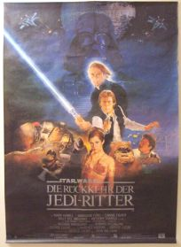 """German Return of the Jedi Style """"B"""" One-Sheet / A0 Size"""