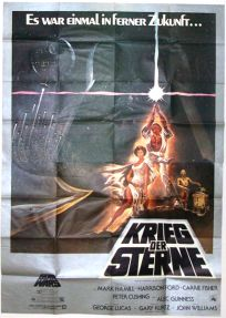 """German Star Wars Style """"A"""" Super-Poster / A00 Size"""